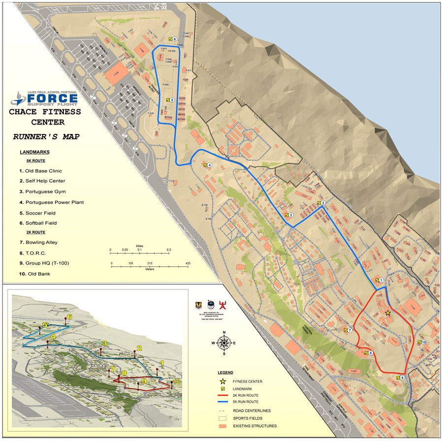 Lajes Jogging Map