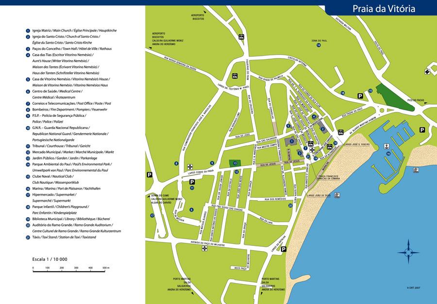 Praia map