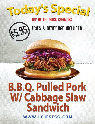 pulled pork w cabbage slaw sandwich