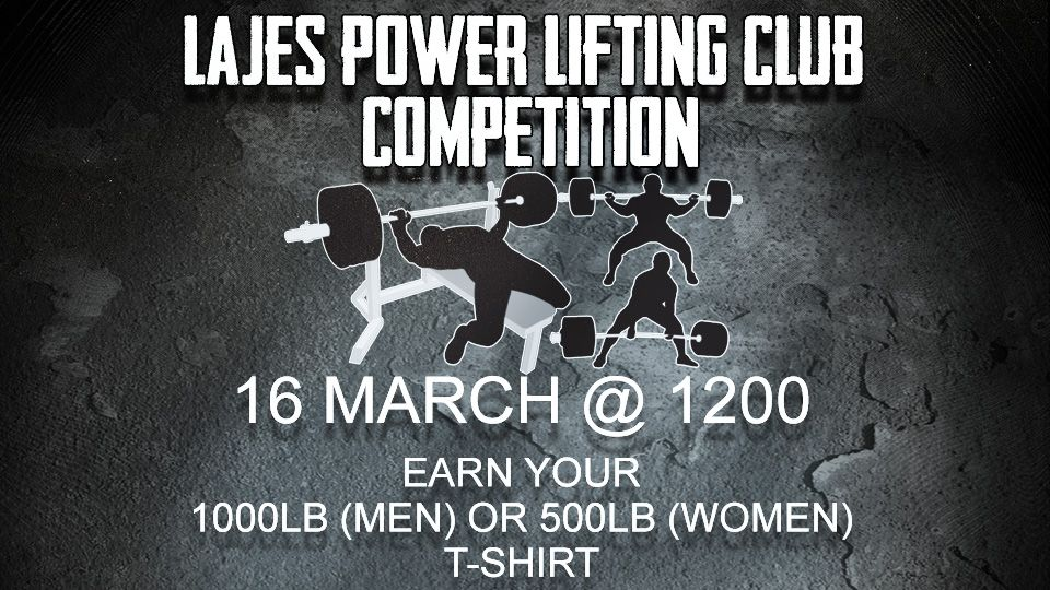 Lajes Power Lifting Club competition