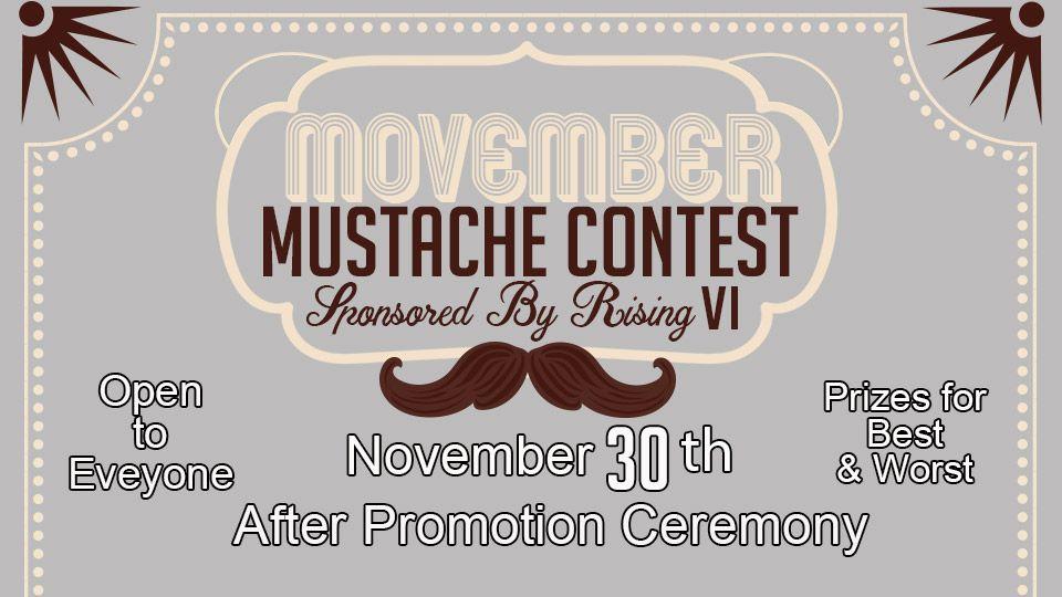 Movember Mustache Contest