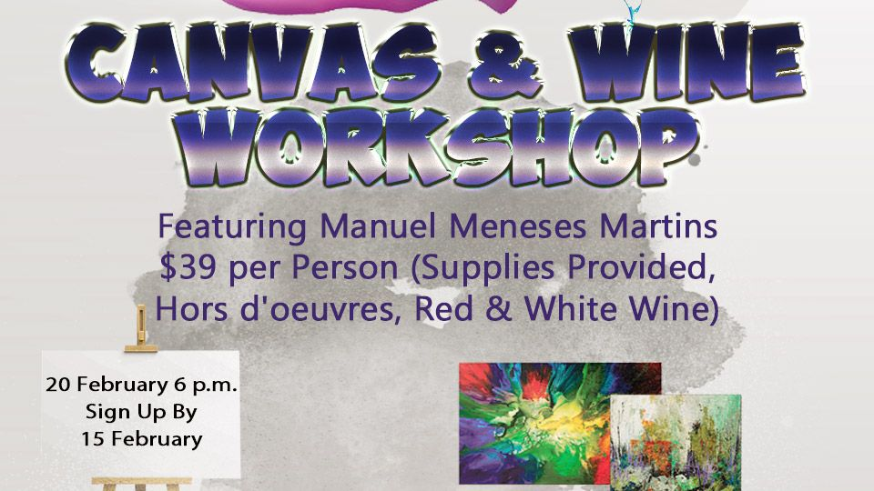 CANVAS & WINE WORKSHOP