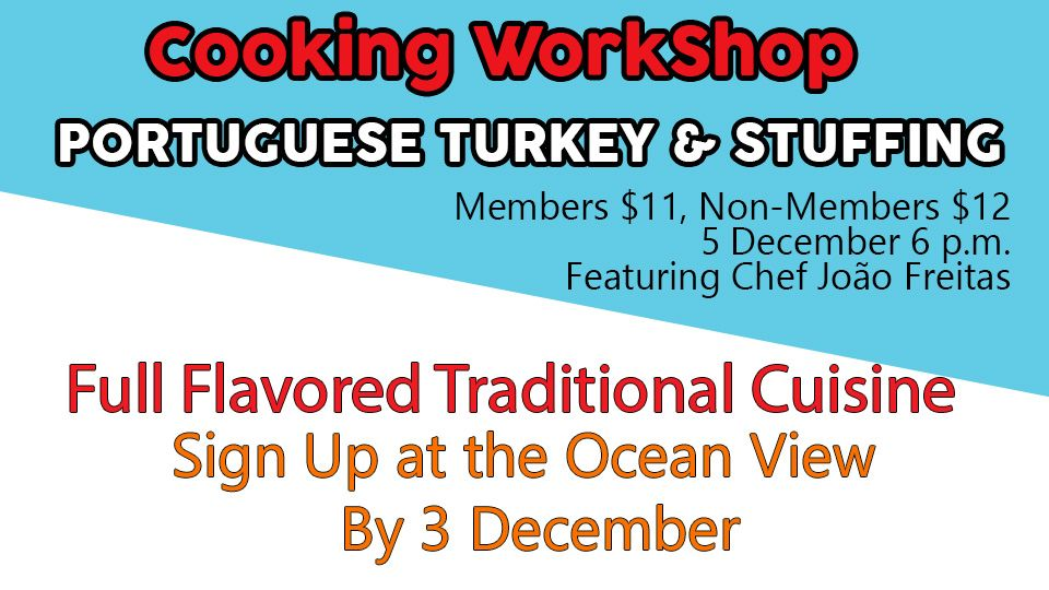 Portuguese turkey & Stuffing Cooking WorkShop