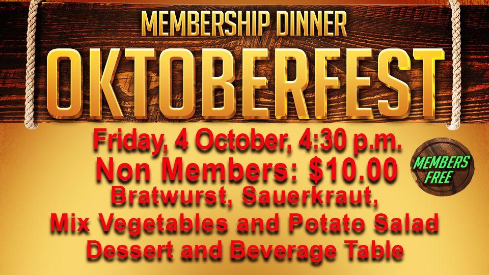 Oktoberfest Membership Dinner