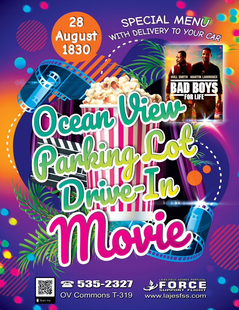 Drive-In Movie at Ocean View Parking Lot