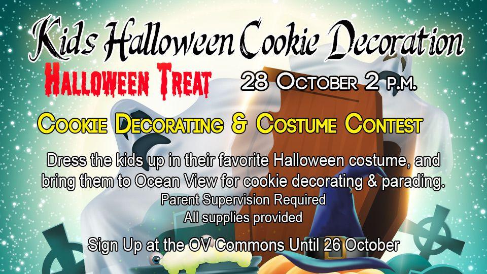 Kids Halloween Cookie Decoration