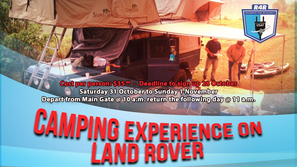R4R Camping Experience on Land Rover