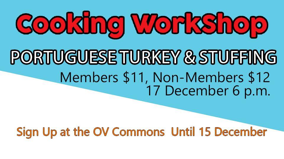 Cooking WorkShop Portuguese Turkey & Stuffing