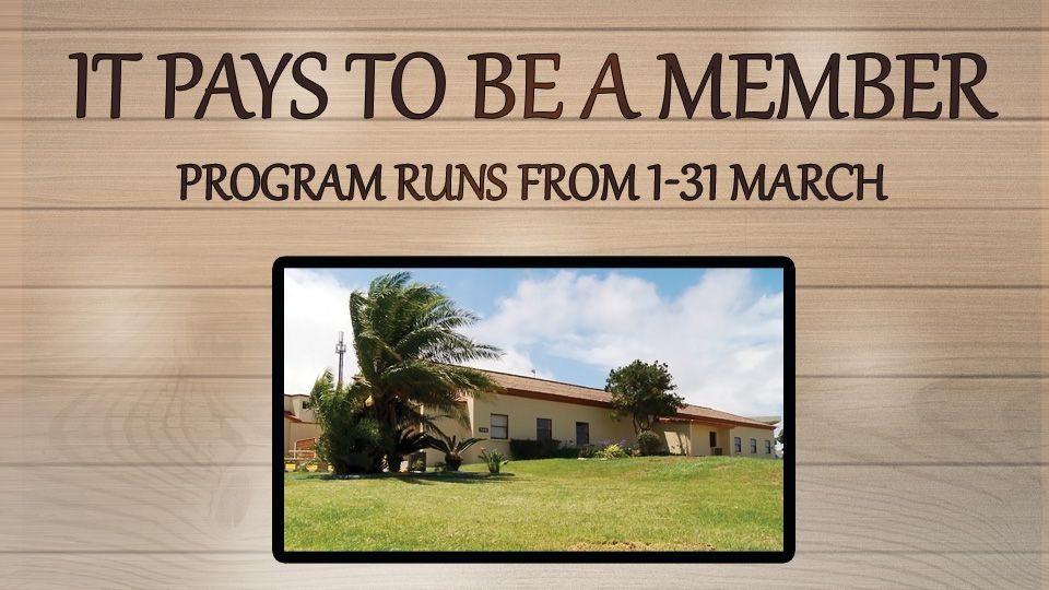 It Pays to be a member March