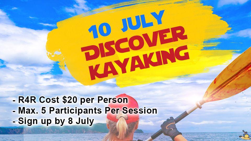 Discover kayaking 10 July