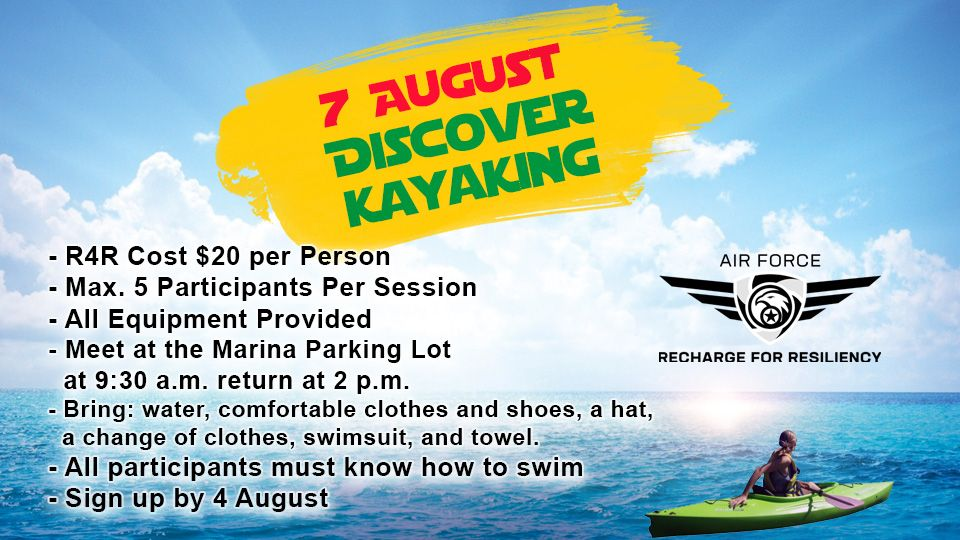 Discover kayaking 7 August