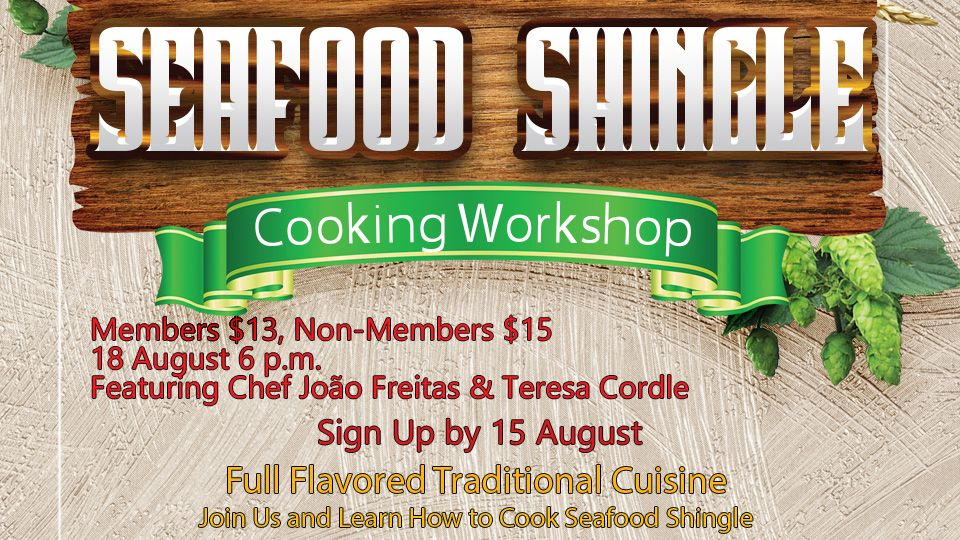 Seafood Shingle Cooking Workshop 18 August