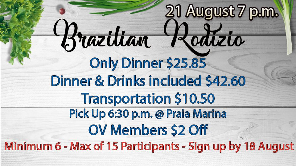 Brazilian Rodizio 21 August