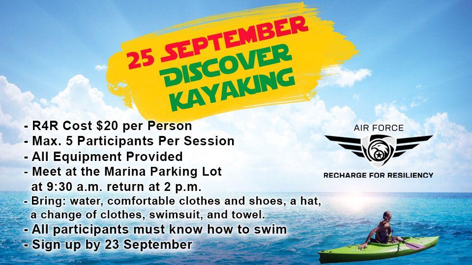 Discover kayaking 25 September