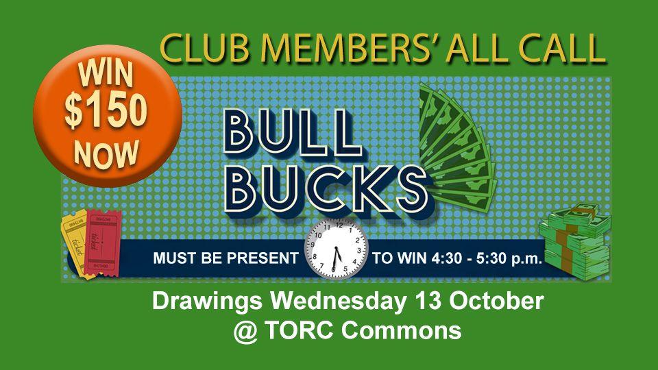 Bull Bucks + Bingo 13 October