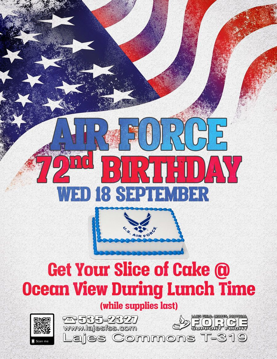 Air Force Birthday | Lajes Force Support