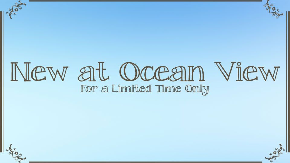 Special Ocean View Menu