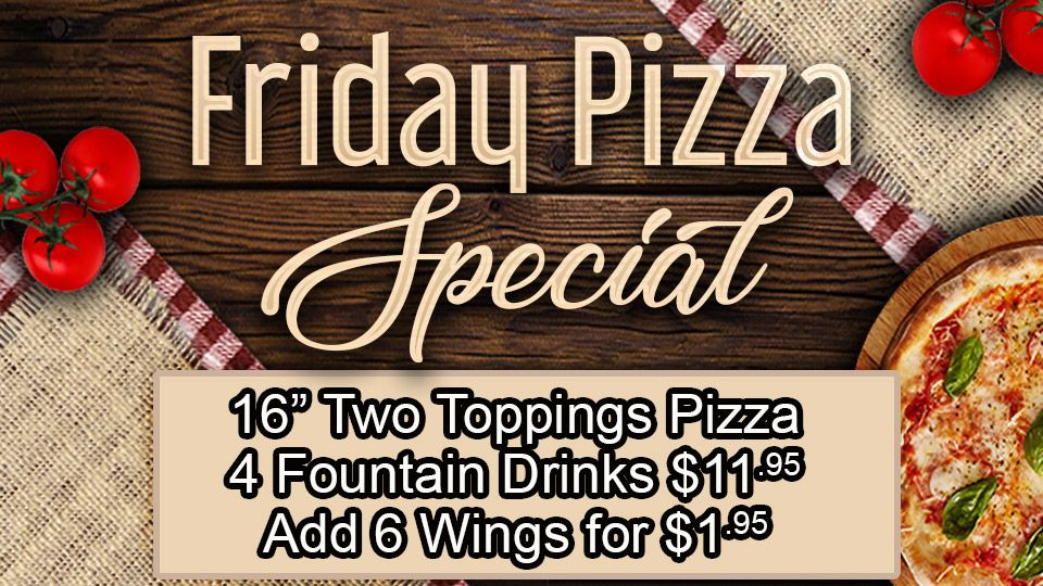 Friday Pizza Special