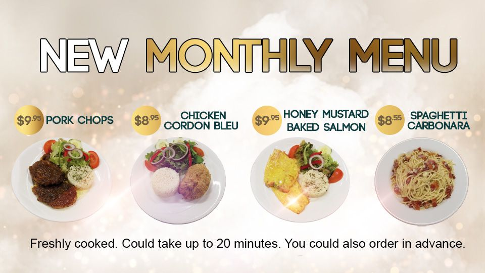 New Monthly Menu